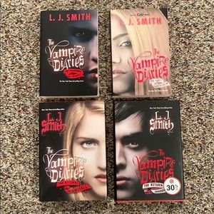 The first 4 Vampire Diaries books